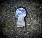 Blockierung des Steinblauen übermäßighimmels Lizenzfreie Stockbilder