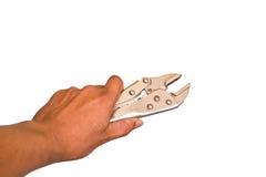Blockierungszangen im Handwerkzeughintergrund. Stockbilder