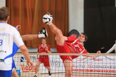 Blocking Jakub Medek - czech football tennis Stock Photo