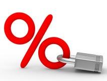 Blocking percent on white background Stock Photos
