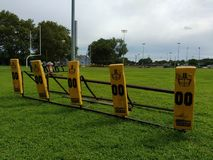 Blocking Sled, American Football Training Equipment Stock Photos