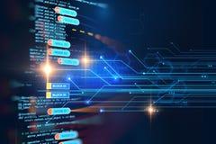 Blockketten-Netzkonzept auf Technologiehintergrund Lizenzfreie Stockfotos