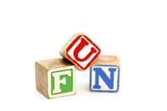 Blocks. Childrens letter blocks spelling 'fun Royalty Free Stock Photography