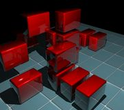 Blocks. 3d image blocks made by me royalty free illustration