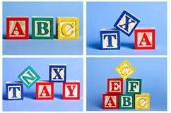 Blocks. Wooden block alphabet toys for childrens Royalty Free Stock Image