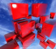 Blocks. 3D Made Blocks vector illustration