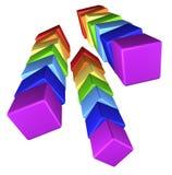Blocks. 3D illustration. (isolated on white Stock Photos