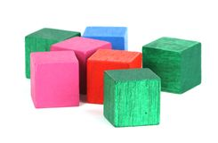 Blocks. A photo of some colored blocks Stock Images