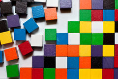Blocks abstract. Different colored blocks in abstract pattern Royalty Free Stock Photography