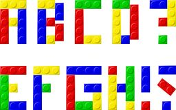 Blocks. Alphabet with plastic blocks - vector illustration Stock Images