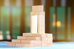 Blocks arranged in step wise order. Royalty Free Stock Photos