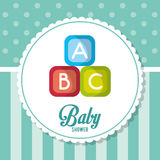 Blocks of baby shower card design Stock Image