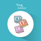 Blocks of back to school design Royalty Free Stock Images