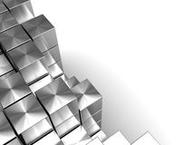 Blocks background. Abstract 3d illustration of assembling blocks background Stock Photos