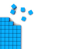 Blocks background. 3d illustration of blocks construction background with copy space Stock Image