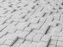 Blocks background. 3d illustration of white blocks abstract background Royalty Free Stock Image