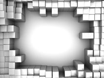 Blocks background. Abstract 3d illustration of white boxes background Royalty Free Stock Photo