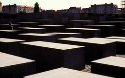 Blocks at Berlin Holocaust Memorial, Germany Royalty Free Stock Photos