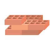 Blocks brick construction tool design Royalty Free Stock Image