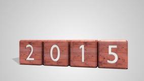 2014 blocks changing to 2015 vector illustration