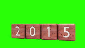 2014 blocks changing to 2015 stock video