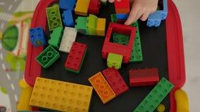 blocks children playing απόθεμα βίντεο