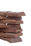 Blocks of chocolate Royalty Free Stock Images