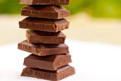 Blocks of chocolate Stock Photo