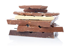 Blocks of chocolate Royalty Free Stock Image