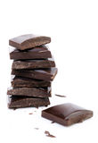 Blocks of Chocolate Stock Image
