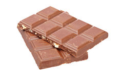 Blocks of chocolate Royalty Free Stock Photography