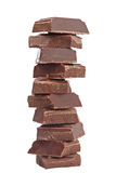 Blocks of chocolate Stock Photo