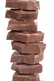 Blocks of chocolate Stock Photography