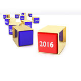 Blocks with different years. And new 2016 stock illustration