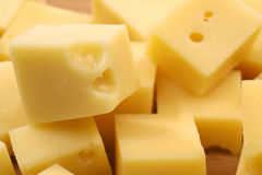 Blocks of Dutch cheese Stock Photo