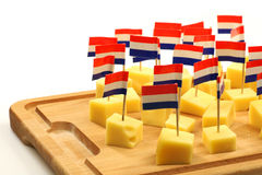 Blocks of Dutch cheese Stock Images