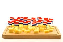 Blocks of Dutch cheese Stock Photos