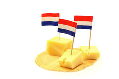 Blocks of Dutch cheese Stock Image