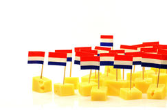 Blocks of Dutch cheese Royalty Free Stock Images