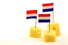 Blocks of Dutch cheese Stock Photo