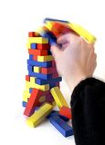 Blocks Falling Royalty Free Stock Photos