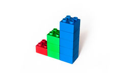 Blocks Finance Graph Royalty Free Stock Photography