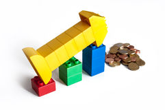 Blocks Finance Graph Royalty Free Stock Image