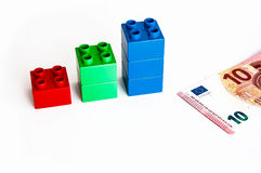 Blocks Finance Graph Stock Images
