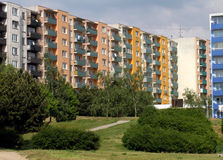Blocks of flats. In different colours royalty free stock images