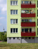Blocks of flats. In different colours royalty free stock photography