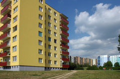 Blocks of flats. In different colours royalty free stock photos