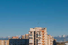Blocks of flats and the blue sky Stock Photography