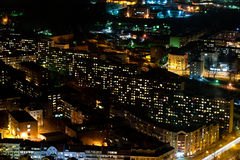 Blocks of flats by night Stock Image