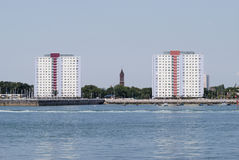 Blocks of flats at. Portsmouth. UK Stock Photography